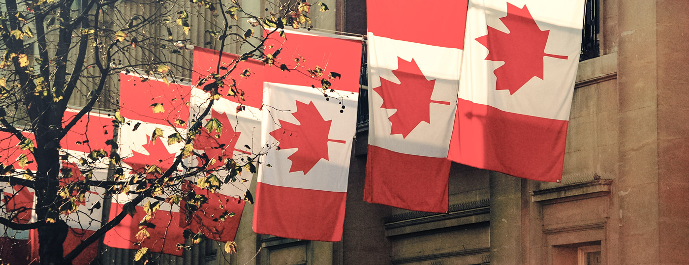 Photo of Canadian flags